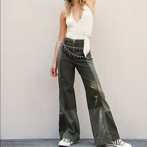 FREE PEOPLE MIXED UP ARMY PANTS